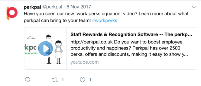 Perkpal twitter social media adverts