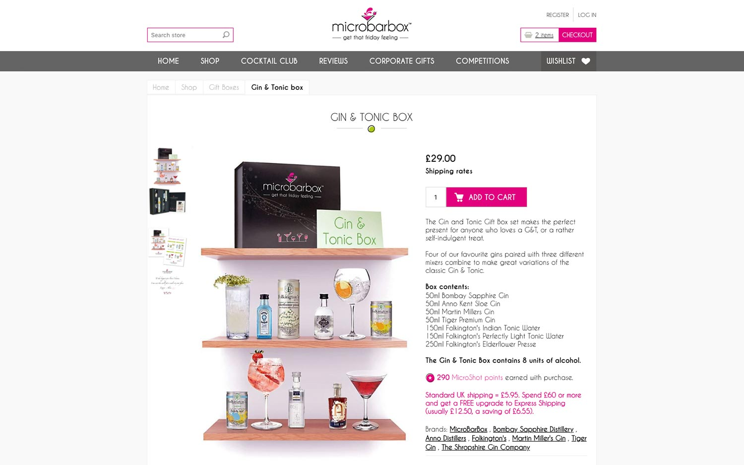 Microbarbox ecommerce website design
