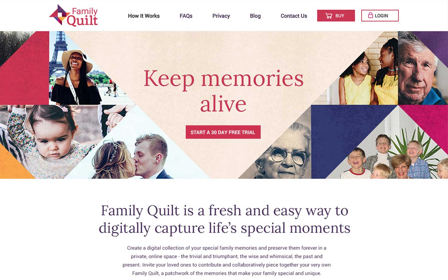 family quilt homepage
