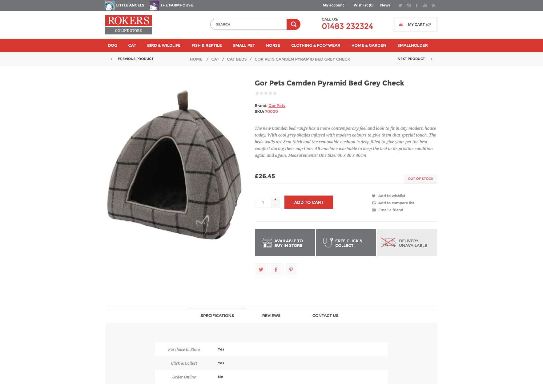 rokers ecommerce product page