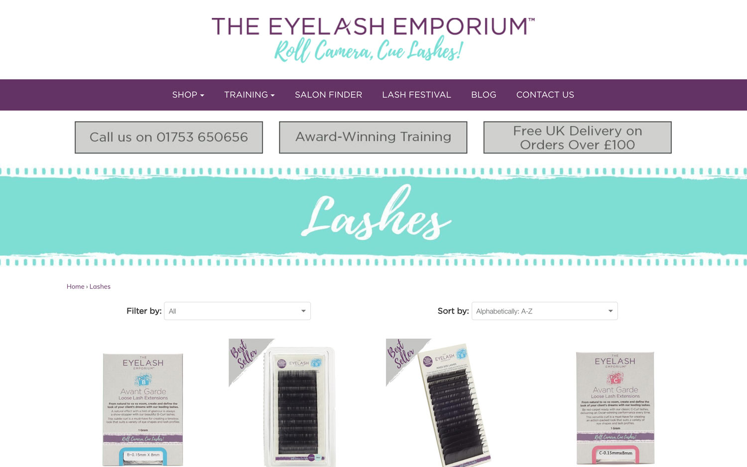 eyelash emporium ecommerce product