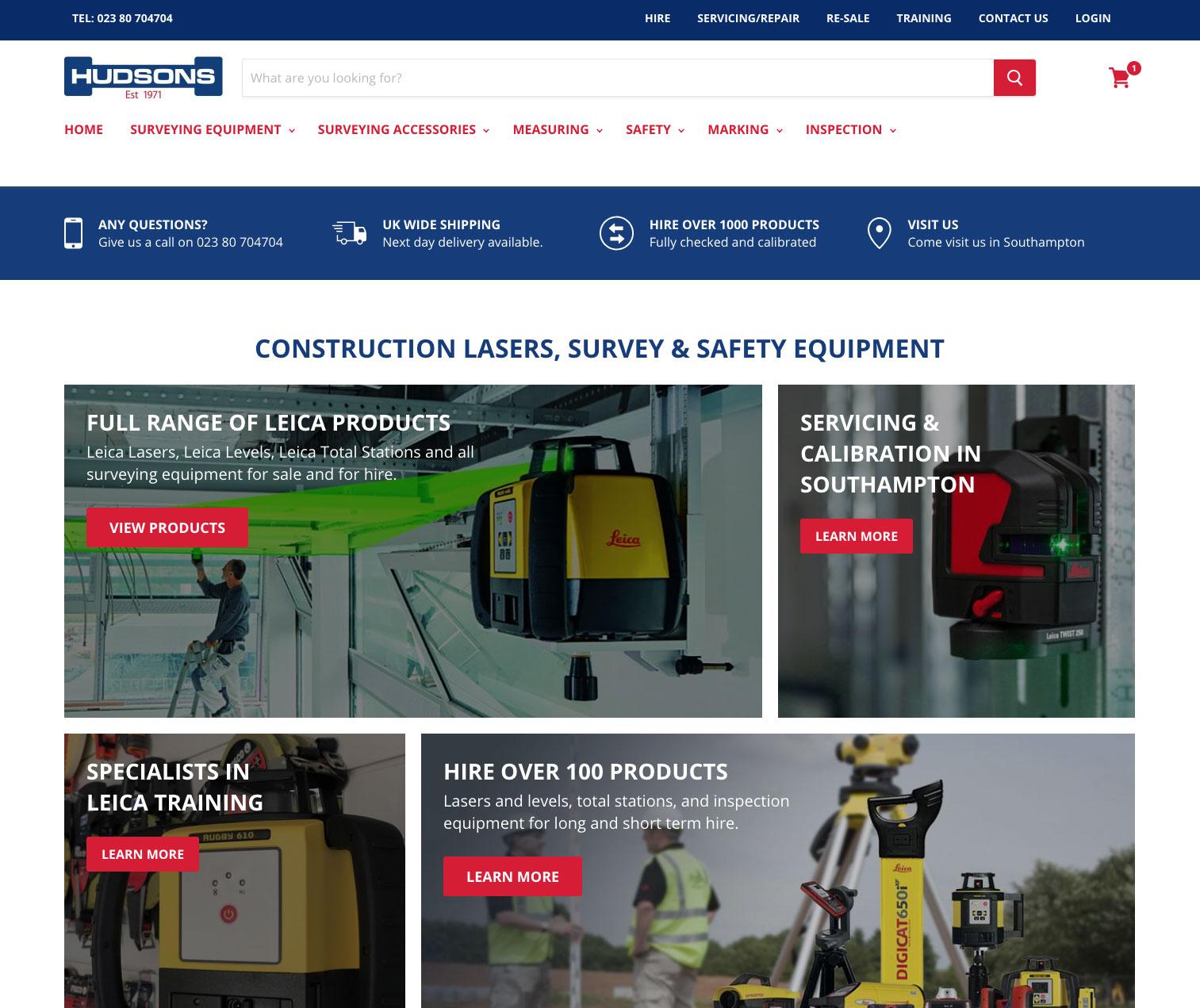 hudsons website