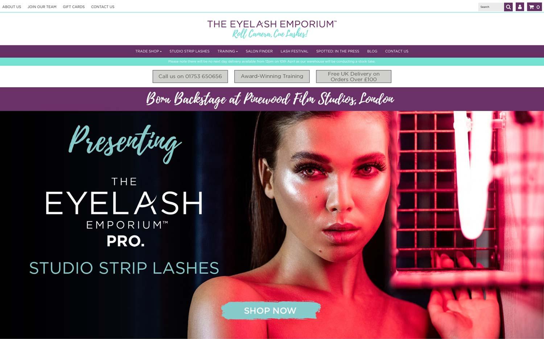 eyelash emporium ecommerce