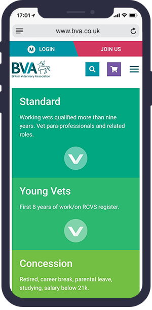 BVA website mobile optimised