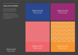 Paradox Parlours visual tile branding