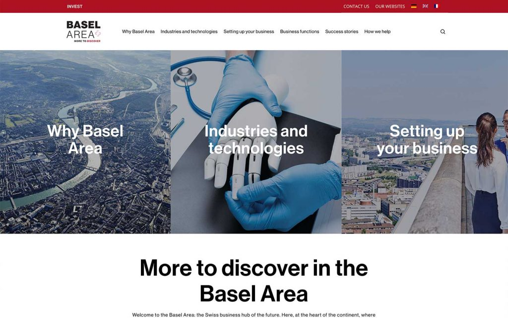 basel area homepage