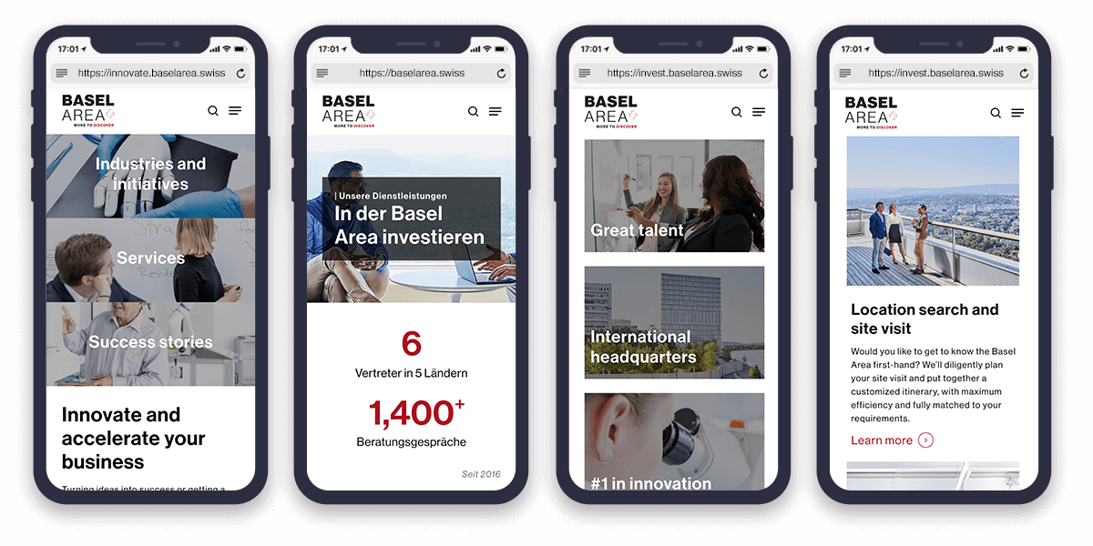 Basel website design