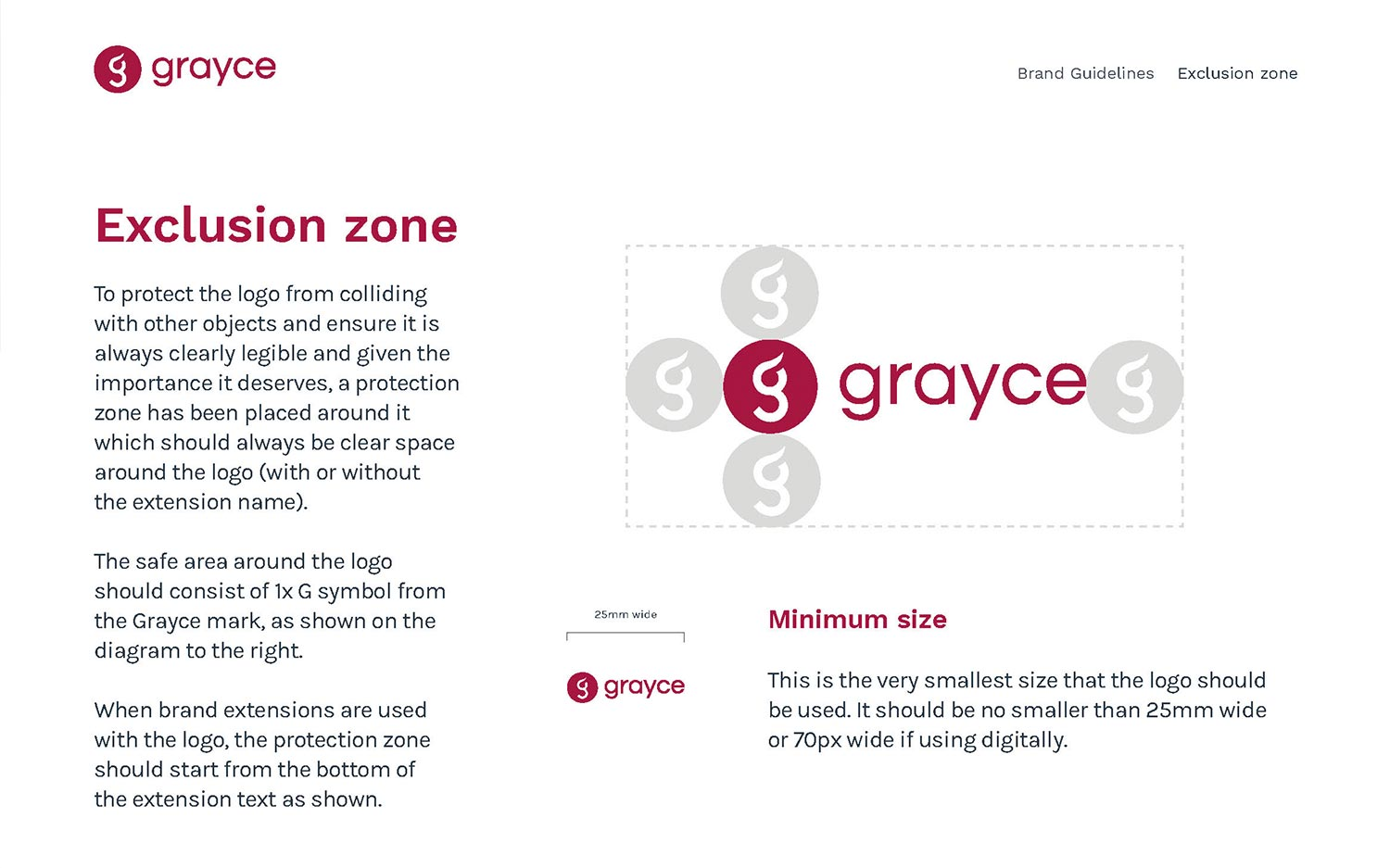Grayce brand guidelines
