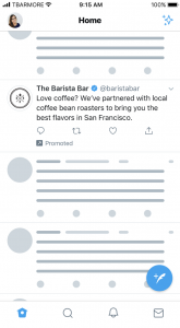Twitter text only ad