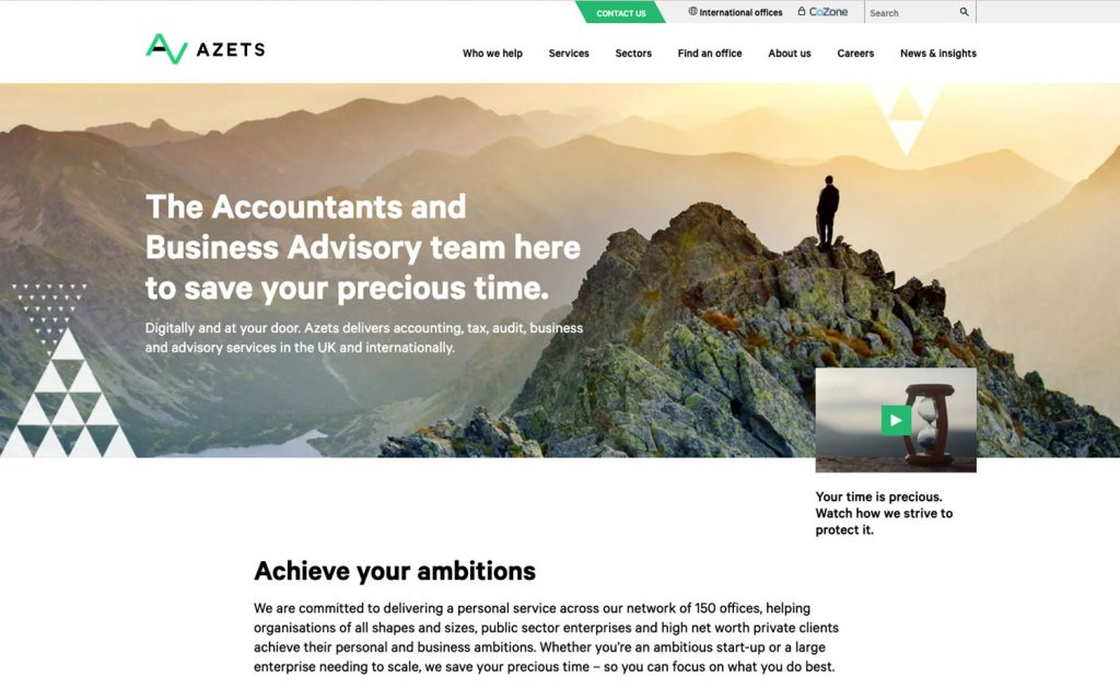 Azets website redesign
