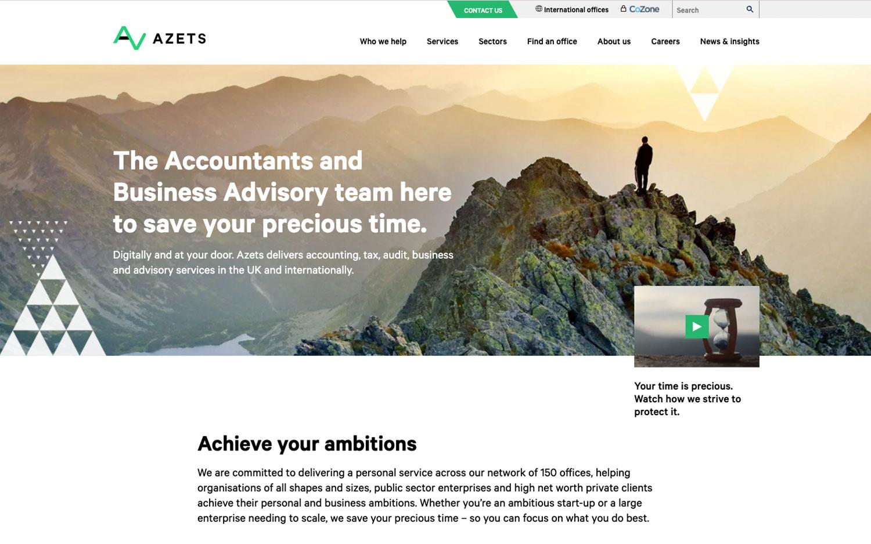 Azets website redesign