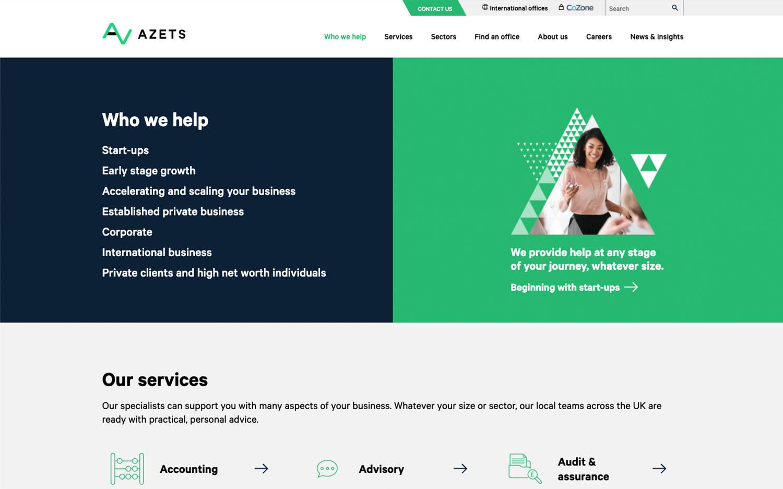 azets website development