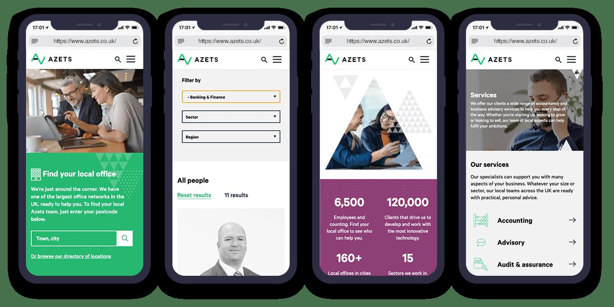 azets website design