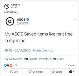 ASOS on Facebook